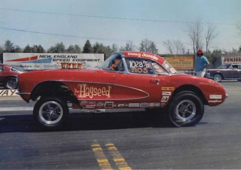 Doug Juonis in his Hayseed Corvette at New England Dragway