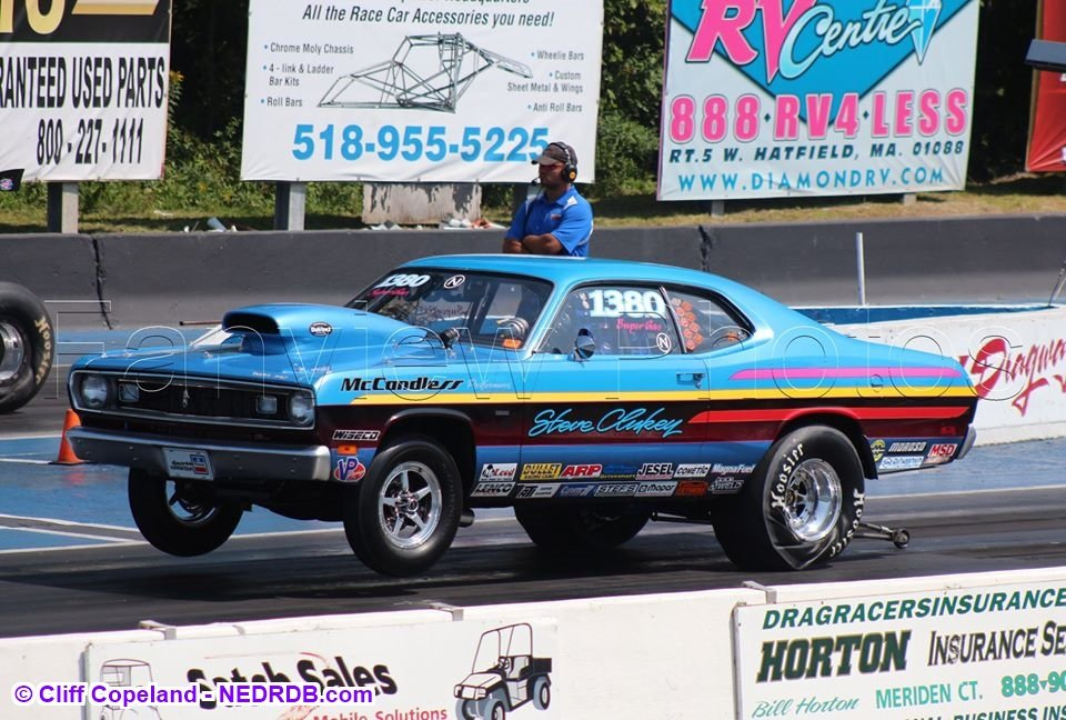 Steve Clukey at Lebanon Valley Dragway in 2018 - 2020 New England Hot Rod Of Fame Inductee