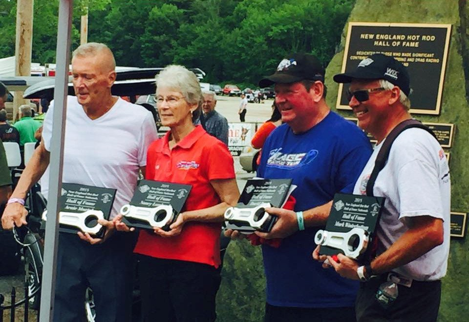 Arnie Martel, Nancy Lombardo, Dave Ray, Mark Winterbottom - 2018 New England Hot Rod Of Fame Inductees