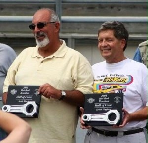 Arnie Karp and Keith Hughes - 2008 New England Hot Rod Of Fame Inductees