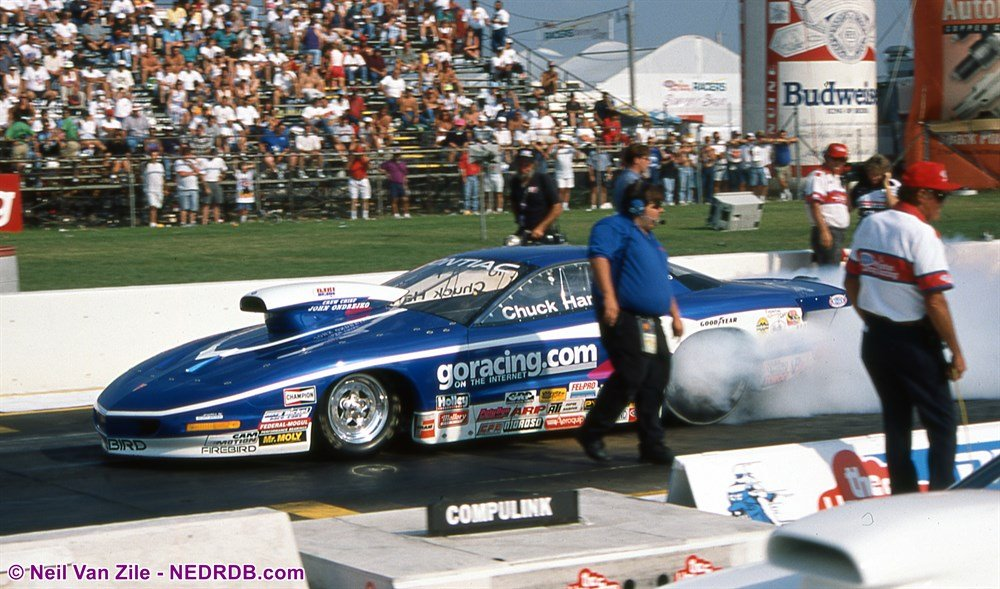 John Ondrejko in 1996 as Crew Chief for Chuck Harris' goracing.com Pro Stock - 2019 New England Hot Rod Hall Of Fame Inductee