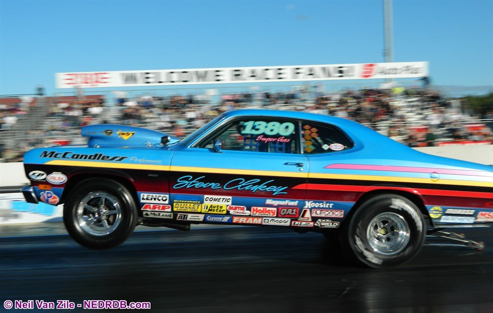 Steve Clukey 1973 Plymouth Duster in 2013 - 2020 New England Hot Rod Of Fame Inductee