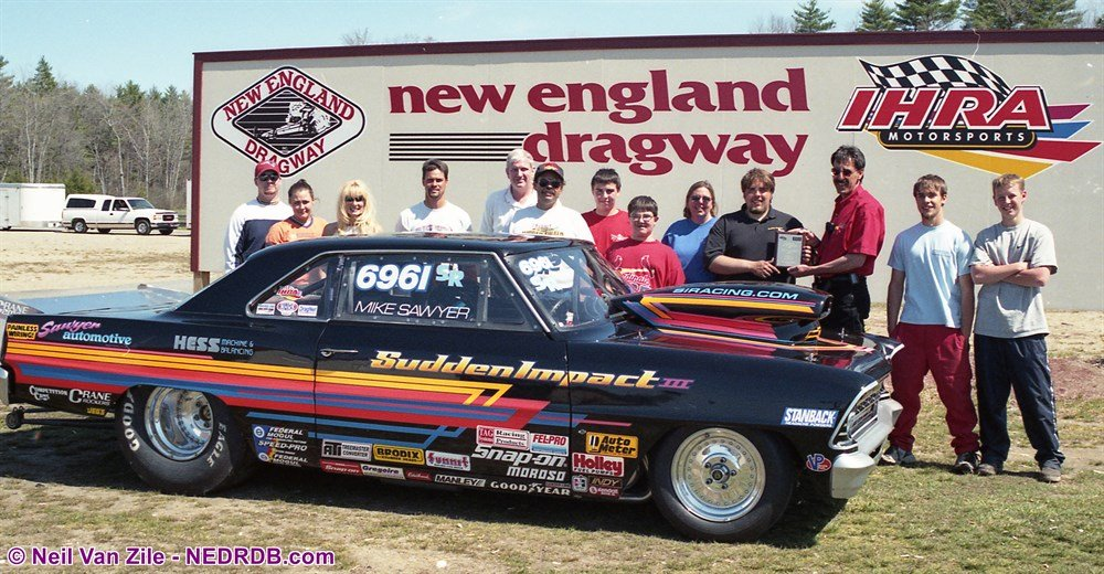 Mike Sawyer in 1999 - 2020 New England Hot Rod Hall of Fame Inductee