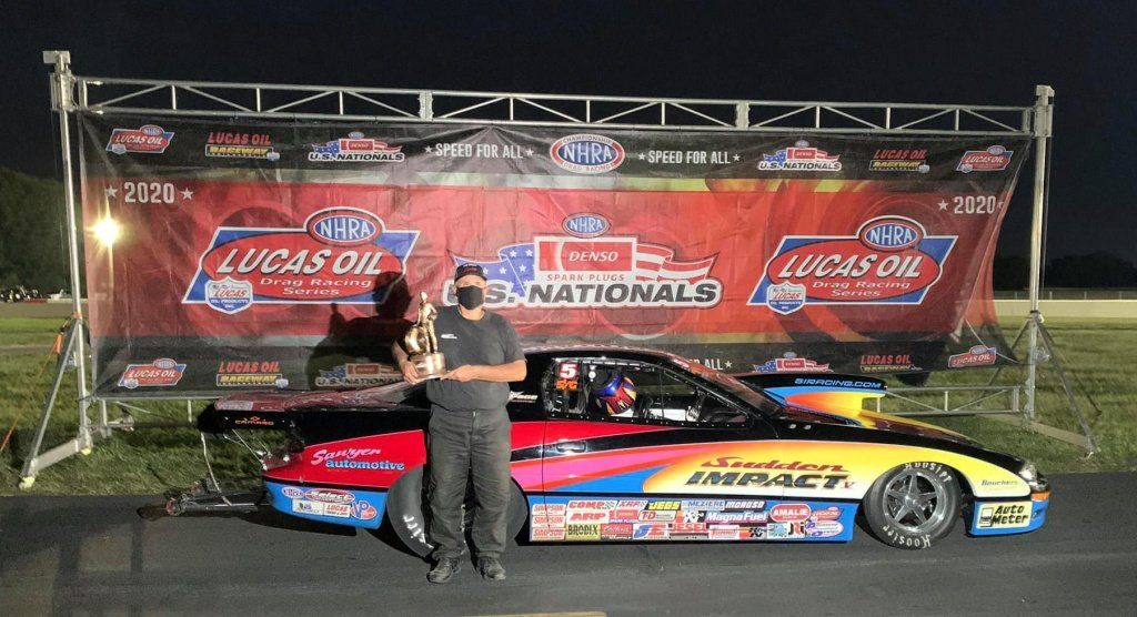 Ray Sawyer in the Winners Circle at the 2020 U.S. Nationals