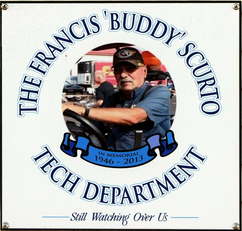 """The Francis """"Buddy"""" Scurto Tech Department Sign"""