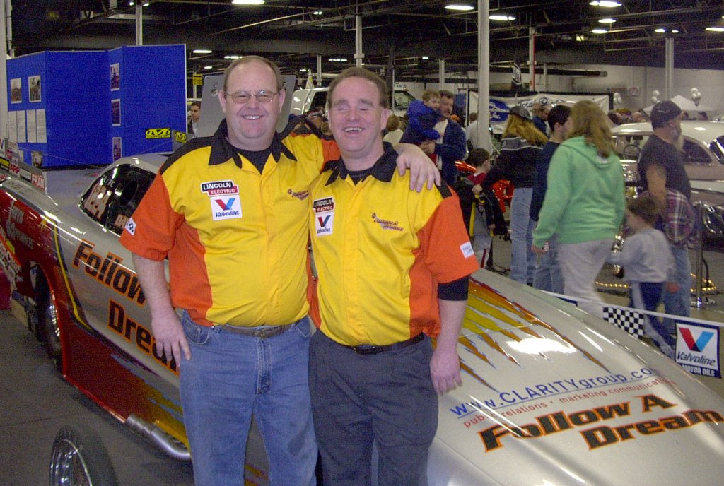 Jim and Jay Blake in 2005 at the World Of Wheels in Boston, MA.