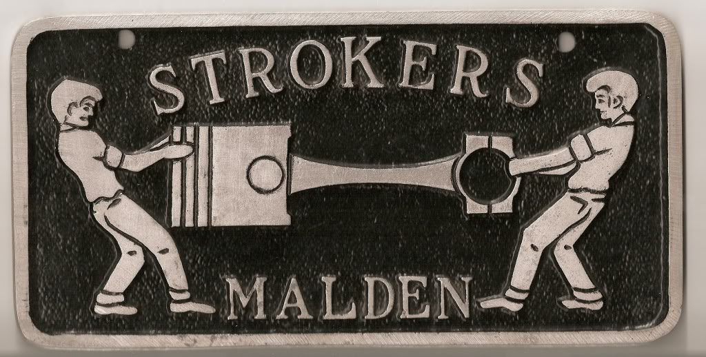 Strokers Car Club from Malden,MA. Foundedin 1962 they were admitted in the New England Hot Rod Council. The N.E.H.R.C was made up of thirteen car clubs that operated Sanford Airport Drag Strip and also provided the labor to build New England Dragway.